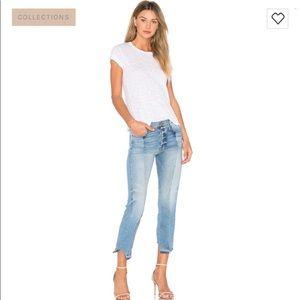 Frame Nouveau Le Mix Two Tone Boyfriend Jeans